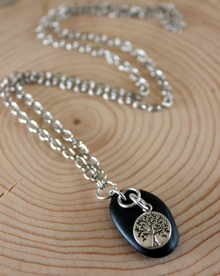Charmed Guardian Silver Tree Necklace
