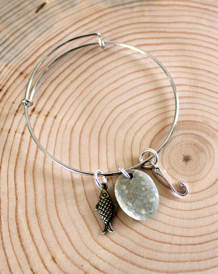 Gone Fishing Bangle Bracelet
