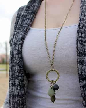Soak It In Lava Stone Necklace