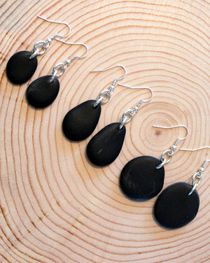 Silver River Stone Earrings