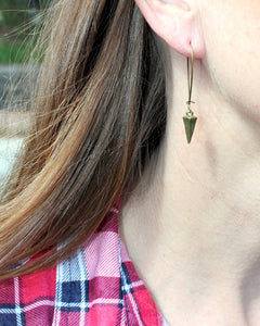 Spike Brass Earrings