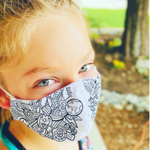 Load image into Gallery viewer, The Artsy- Kid's Color-in mask