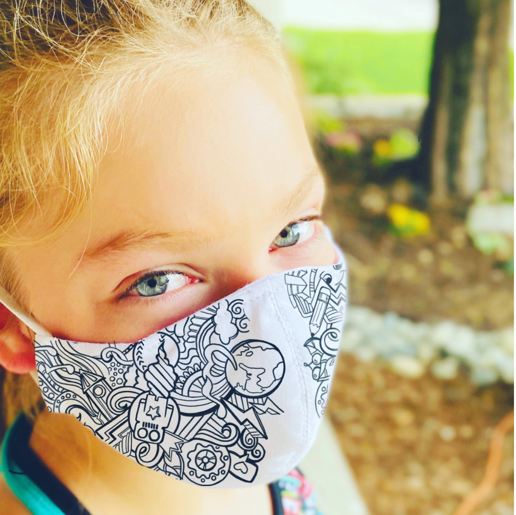 The Artsy- Kid's Color-in mask