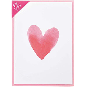 RICO DESIGN - PAPER POETRY GRUSSKARTENSET IT MUST BE LOVE HERZ AQUARELL