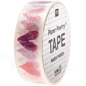 RICO DESIGN - PAPER POETRY TAPE IT MUST BE LOVE HERZEN AQUARELL 1,5CM 10M