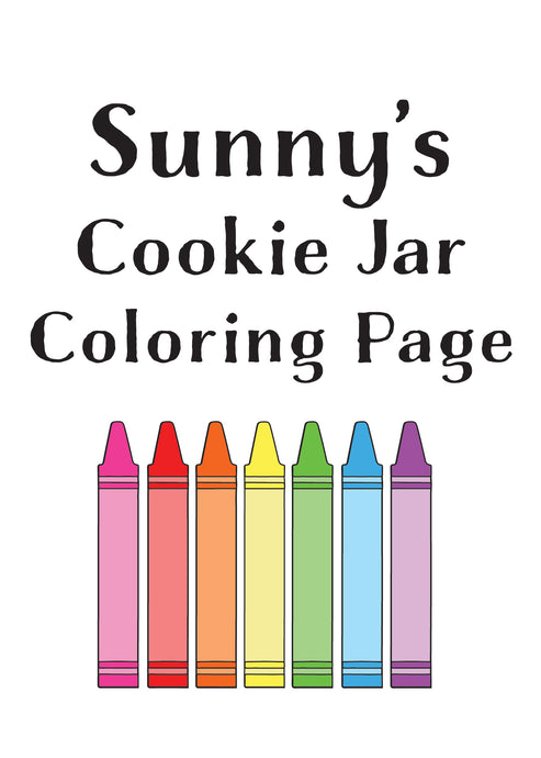 Sunny's Cookie Jar Coloring Page