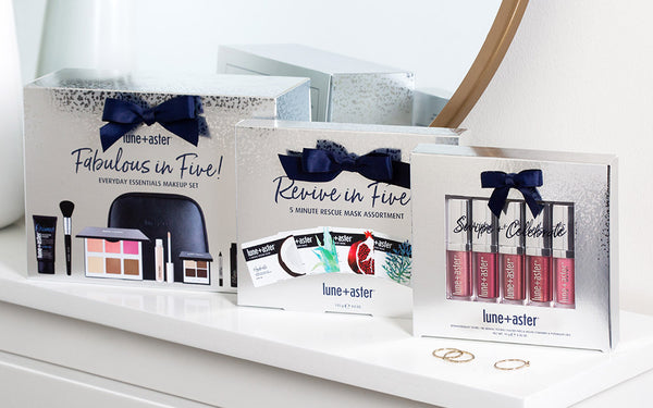 The Fabulous in Five, Revive in Five, and Swipe and Celebrate Lune+Aster kits