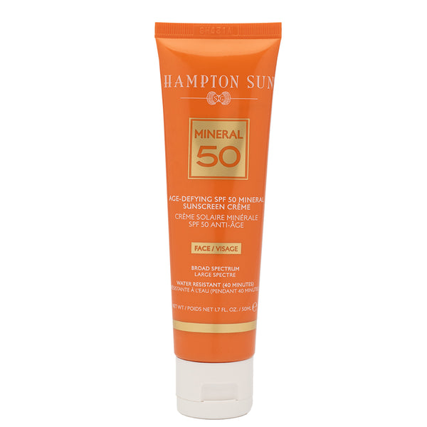 Age-Defying SPF 50 Mineral Sunscreen Crème for Face