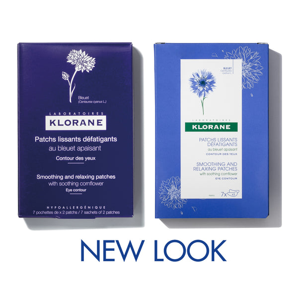 Smoothing and relaxing patches with soothing Cornflower