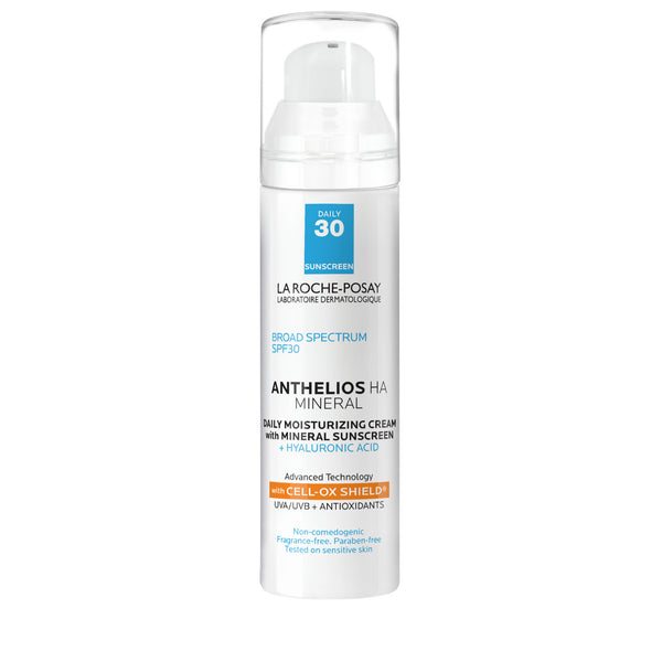 Anthelios HA Mineral Daily Moisturizing Face Sunscreen SPF 30 with Hyaluronic Acid