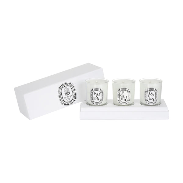 set of mini candles (baies, figuier, roses)