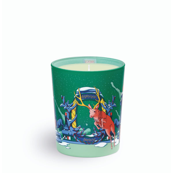 Moonlit Fur Small Candle
