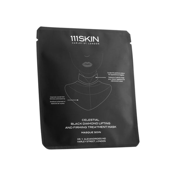 111SKIN Celestial Black Diamond Lifting and Firming Treatment Mask- Neck Single