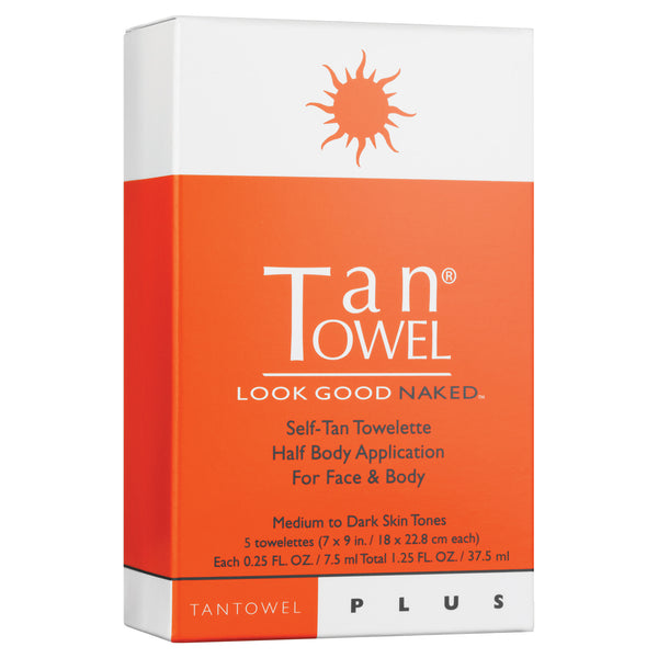 TanTowel Plus Half Body 5 Pack
