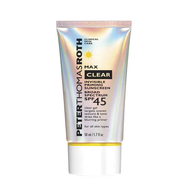Peter Thomas Roth Max Clear Invisible Priming Sunscreen Broad Spectrum SPF 45