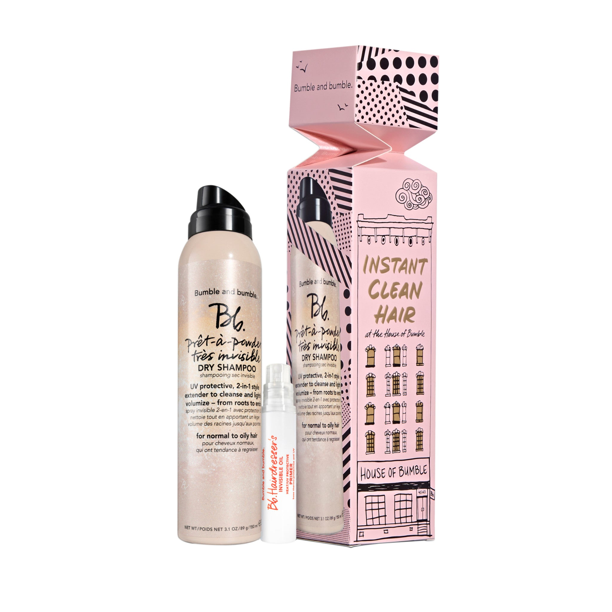 Instant Clean Hair Dry Shampoo Set