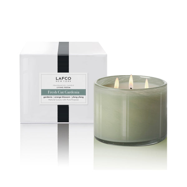 LAFCO Fresh Cut Gardenia - Living Room 3-Wick Candle