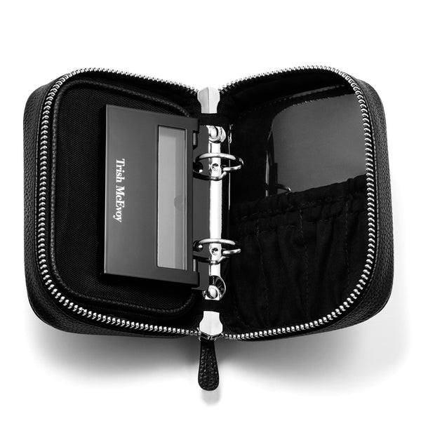 Deluxe Makeup Planner® Classic Black Quilted Petite