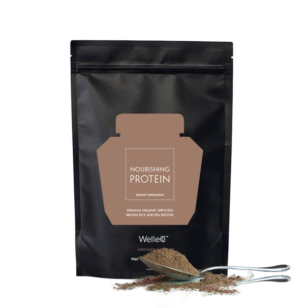 WelleCo Nourishing Plant Protein Chocolate 300g Refill Pack (For California Residents Only)