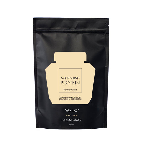 WelleCo Nourishing Plant Protein Vanilla 300g Refill Pack (For California Residents Only)