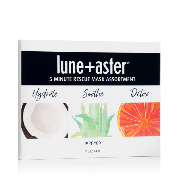Lune+Aster 5 Minute Rescue Sheet Mask Assortment - 3 Pack