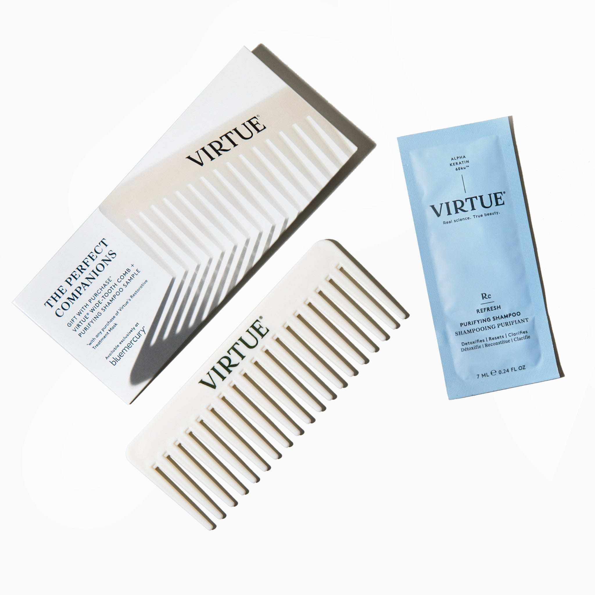 Perfect Companions: Wide-tooth comb + Purifying Shampoo
