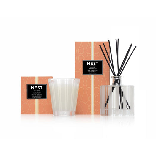 White Peach & Honeysuckle Classic Candle