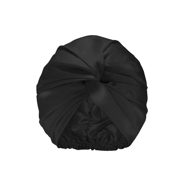 Slip™ Pure Silk Turban - Black