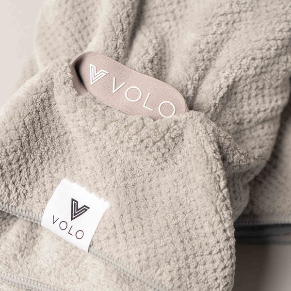 VOLO HERO Hair Towel - Luna Gray Hero