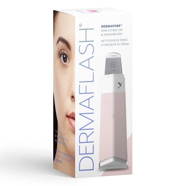 Dermapore Ultrasonic Pore Extractor & Serum Infuser, Icy Pink