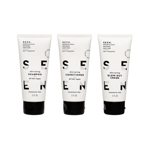 Fragrance Free Travel Kit (Shampoo, Conditioner, Blow-Out Creme)
