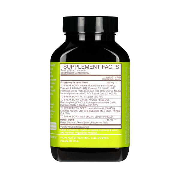 Hum Nutrition Flatter Me - Digestive Enzyme Supplement