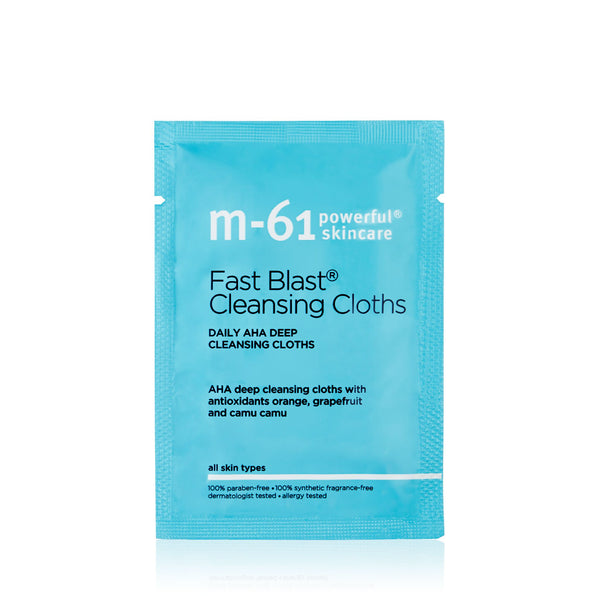M61 Fast Blast Cleansing Cloth packette 20 treatments