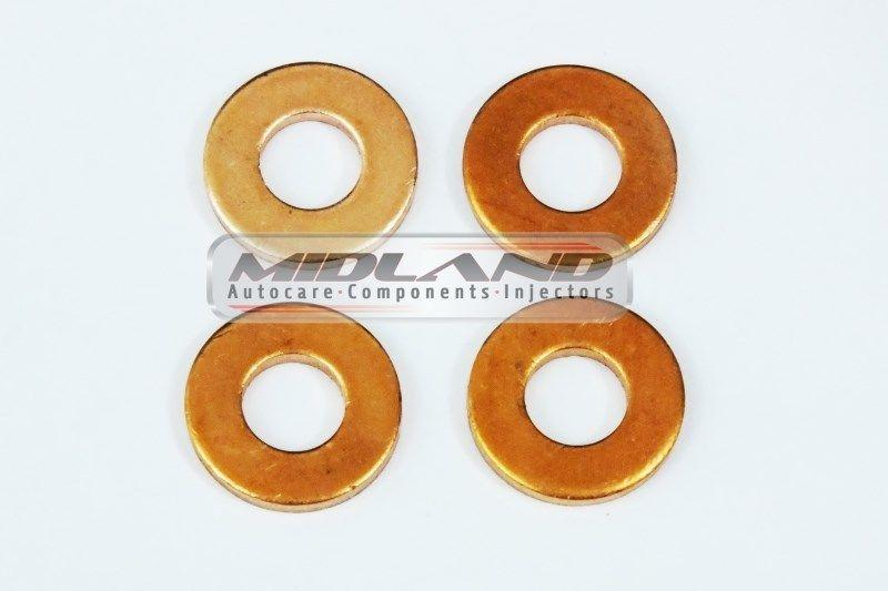Land Rover freelander TD4 Common Rail Diesel Fuel Injector Washers Seal x4