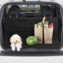 Load image into Gallery viewer, Dog and groceries sitting on protector in trunk of a car