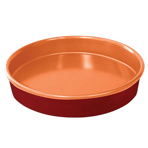Red Copper 9.5 Inch Round Cake Pan