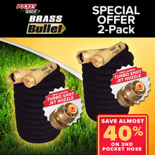 Load image into Gallery viewer, Pocket Hose Brass Bullet 2-Pack