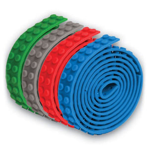 4 Build Bonanza strips in 4 colors; green, gray, red, blue