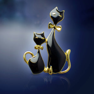 Black Cat Brooch Pin