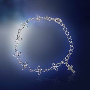 Silver Cross Kid's Bracelet