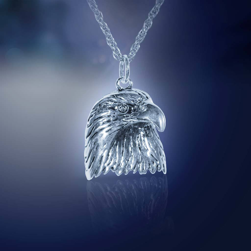 Silvertone Eagle Necklace