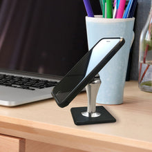 Load image into Gallery viewer, FastBall Magnetic Desk Mount on a desk with a smartphone in it