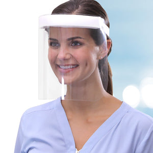 Woman wearing Fresh View Face Shield