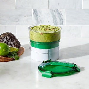 Guacomole in the Casabella Guac-lock Container