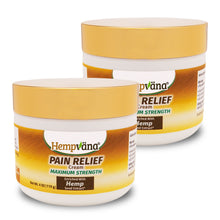 Load image into Gallery viewer, Two jars of Hempvana Gold Pain Relief Cream