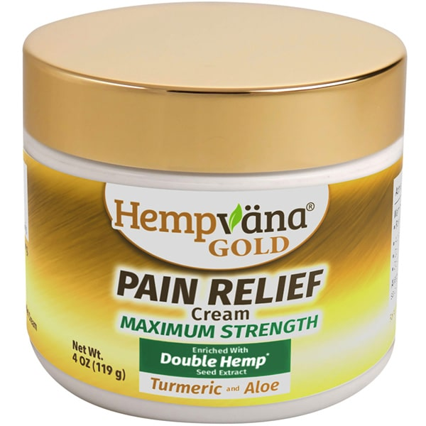 hempvana Gold Pain Relief cream with turmeric and aloe isolated on white background