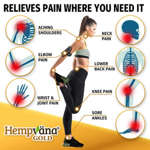 Woman stretching; Fast-Acting Formula helps relieve pain in the shoulders, elbow, neck, lower back, knee, wrists, and ankles.