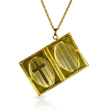 Load image into Gallery viewer, Goldtone Book Locket Necklace