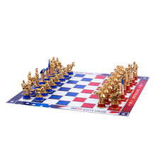 Load image into Gallery viewer, Chess board laid out with all the chess set pieces in their respective places