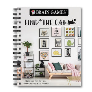 Find the Cat Puzzle Book isolated on white background